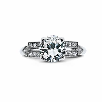 Brilliant Cut Vintage Engagement Ring 1.02ct G VS1 HRD